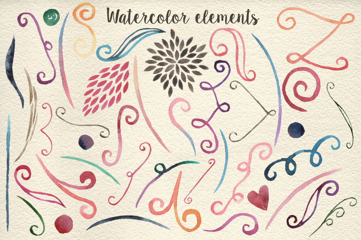 159 Watercolor flowers & florals example image 4