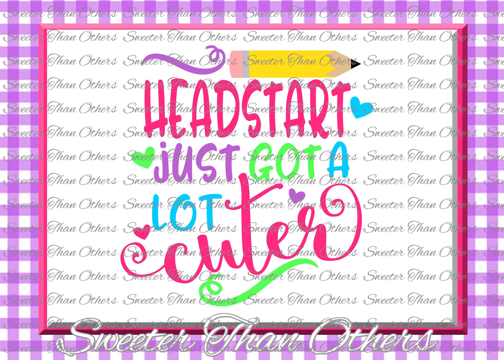 Headstart Cuter SVG Headstart cut file example image 1