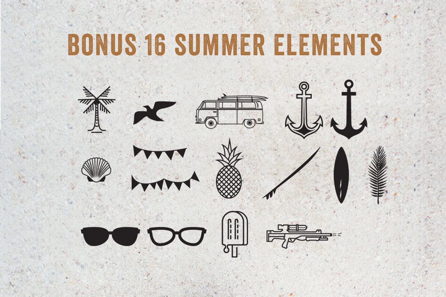 15 Summer Logo Labels & Badges Bundle example image 4