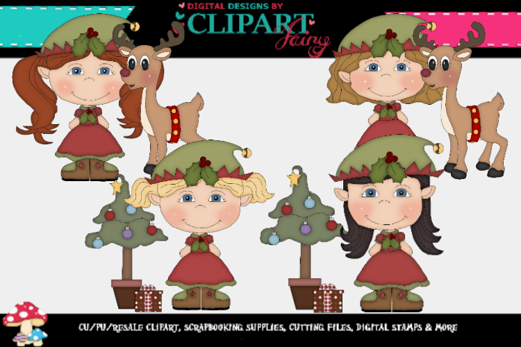 Christmas Elf Gril 4 example image 1