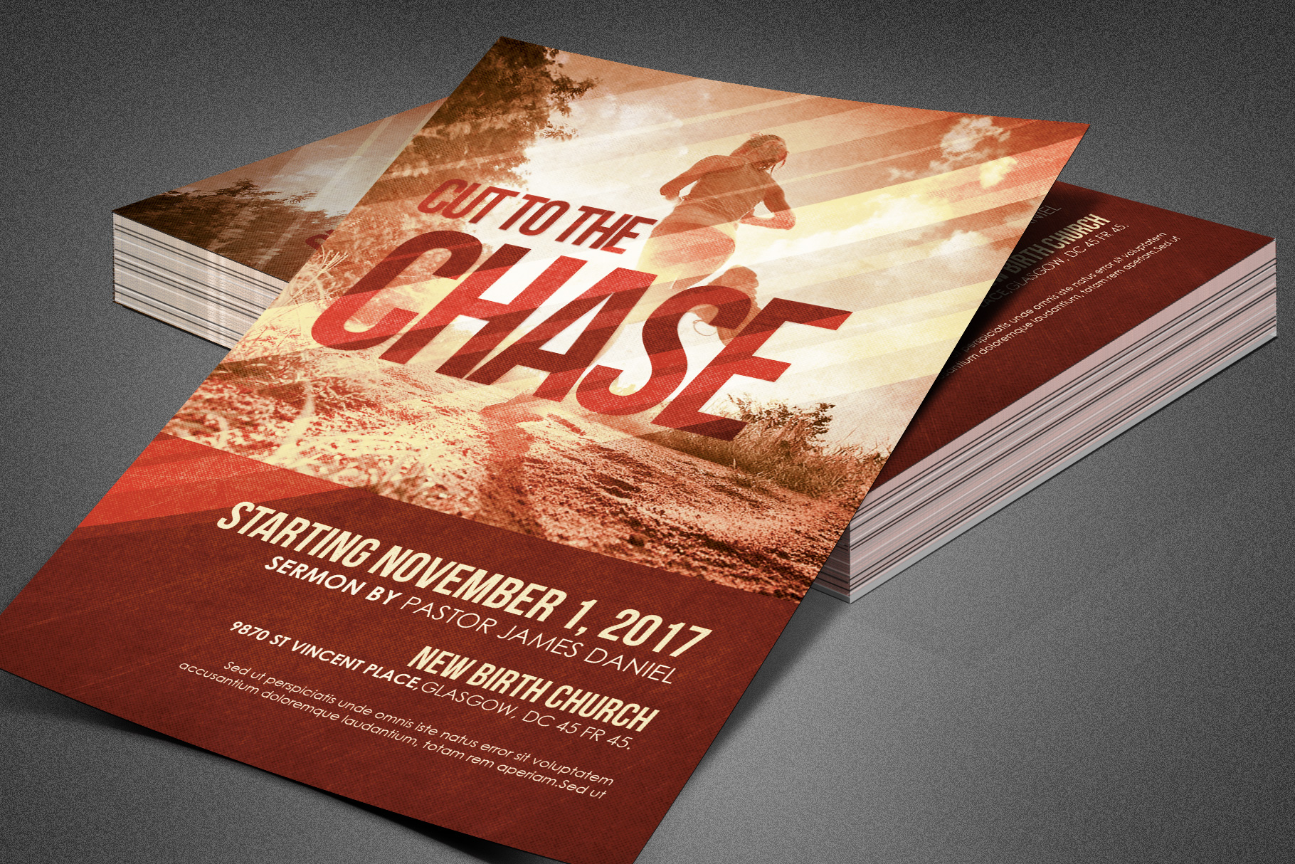 Cut to the Chase Church Flyer example image 3