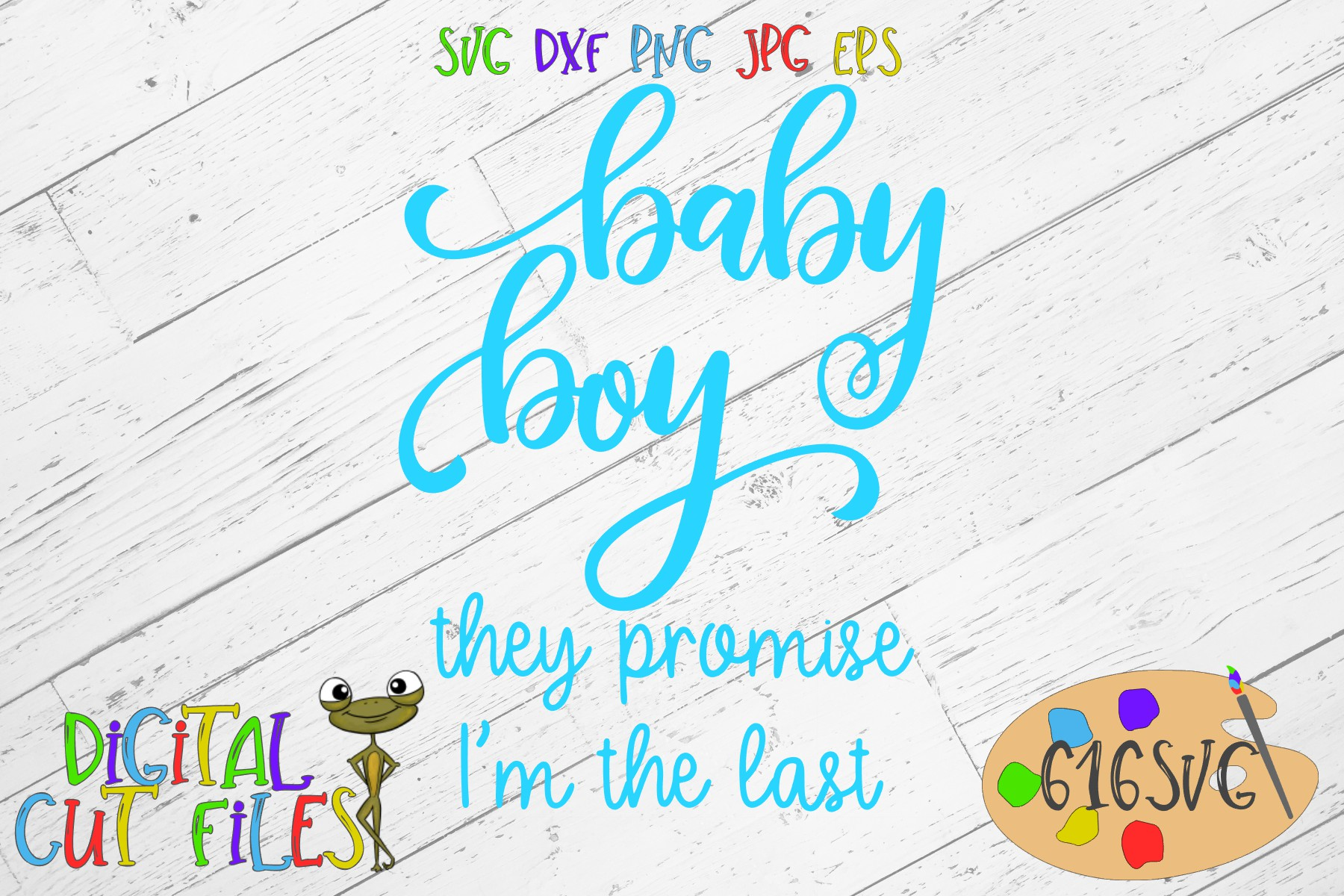 Baby Boy They Promise I'm The Last SVG example image 2