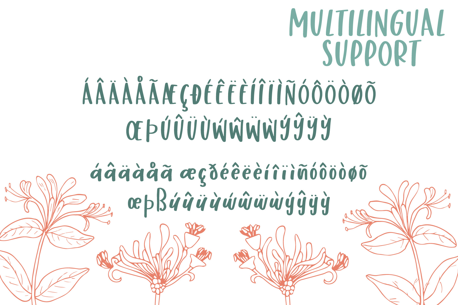 Honey Suckle, A Fresh Hand Lettered Font example image 7