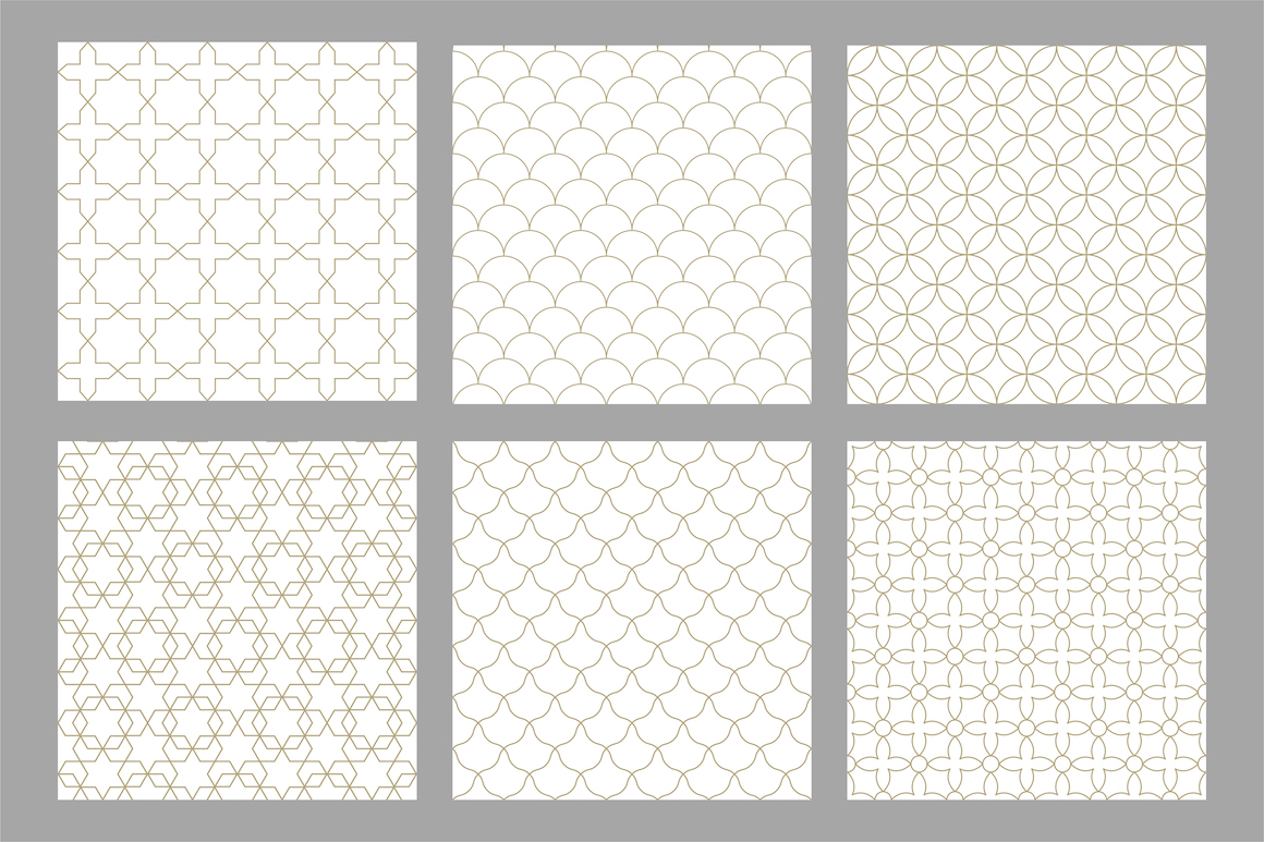 Set of ornamental seamless patterns example image 9