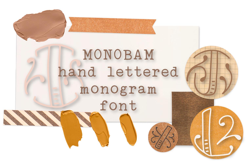 Monobam - Round Monogram Font example image 9