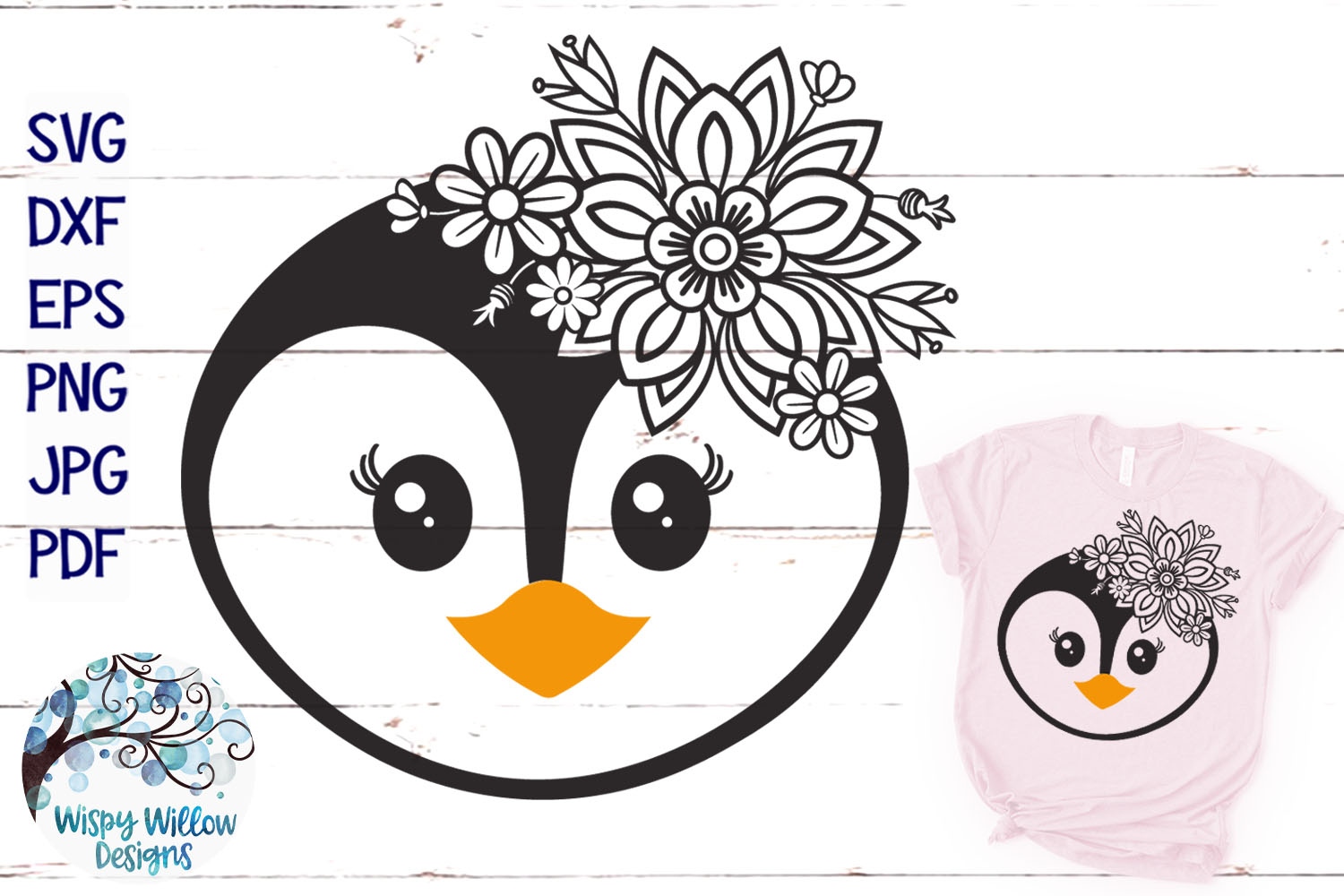 Pretty Animal SVG Bundle | Floral Animal Faces SVG Cut Files example image 14