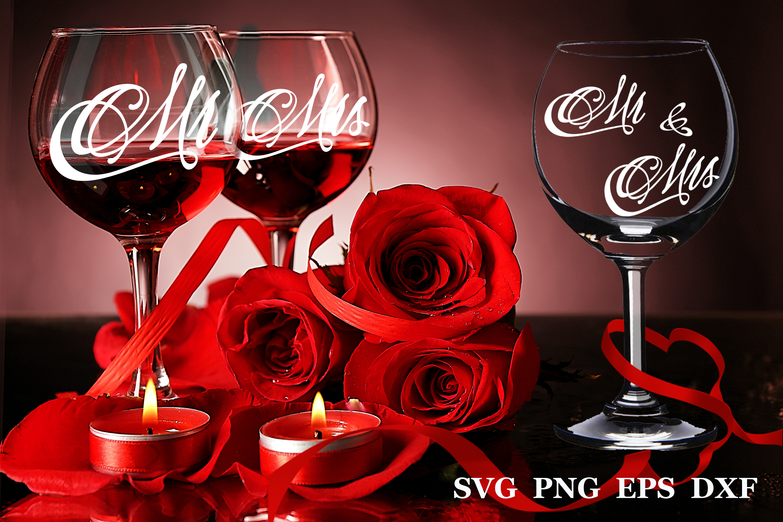 Wedding svg Mr and Mrs svg Monogram svg example image 1