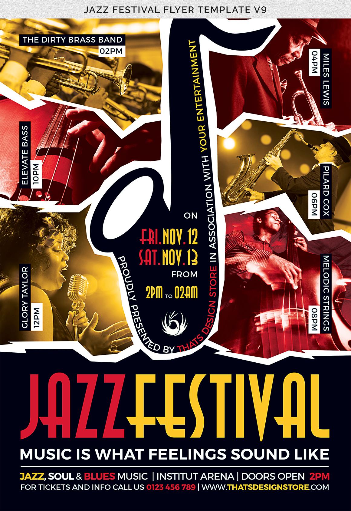 Jazz Festival Flyer Template V8 example image 7