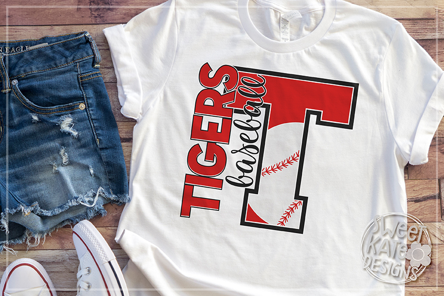 T Tigers Baseball SVG DXF EPS PNG JPG example image 3