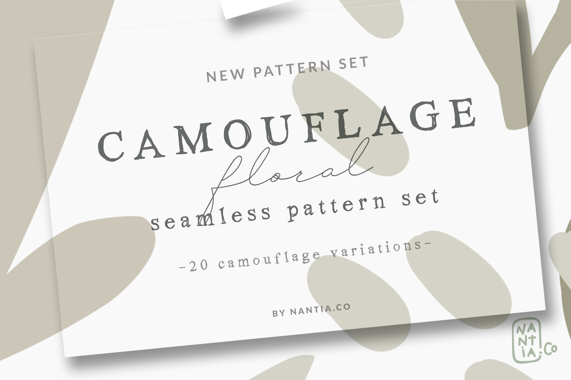 Camouflage Floral Pattern Set example image 8