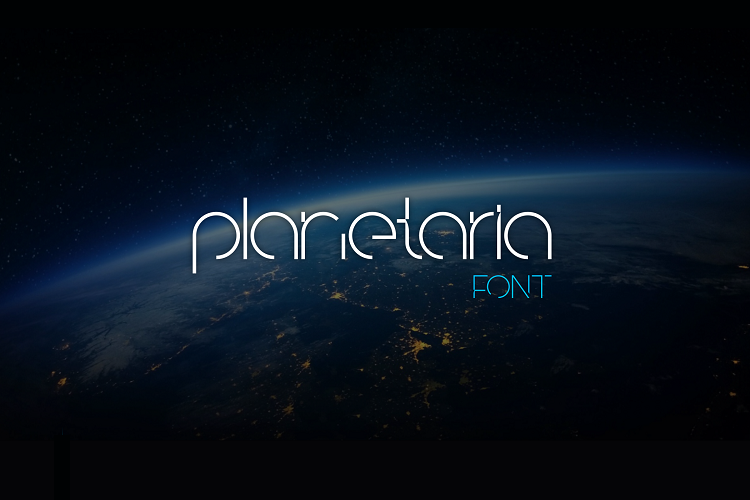 Planetaria Font example image 1