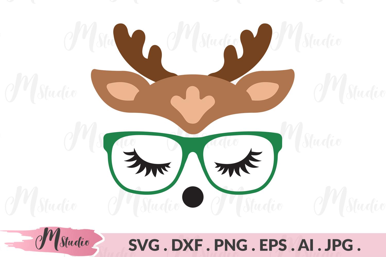 Reindeer geek svg example image 1