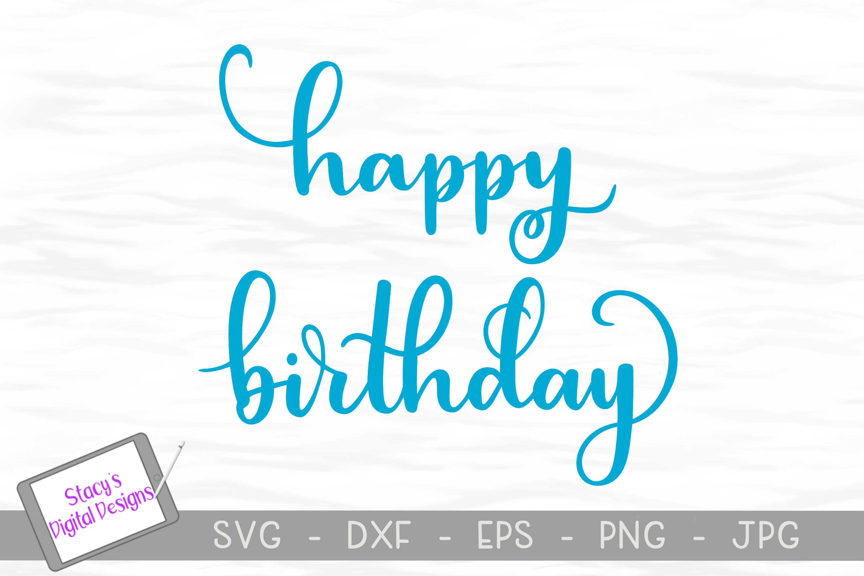 Birthday SVG Bundle - 4 birthday SVG files, Handlettered example image 2