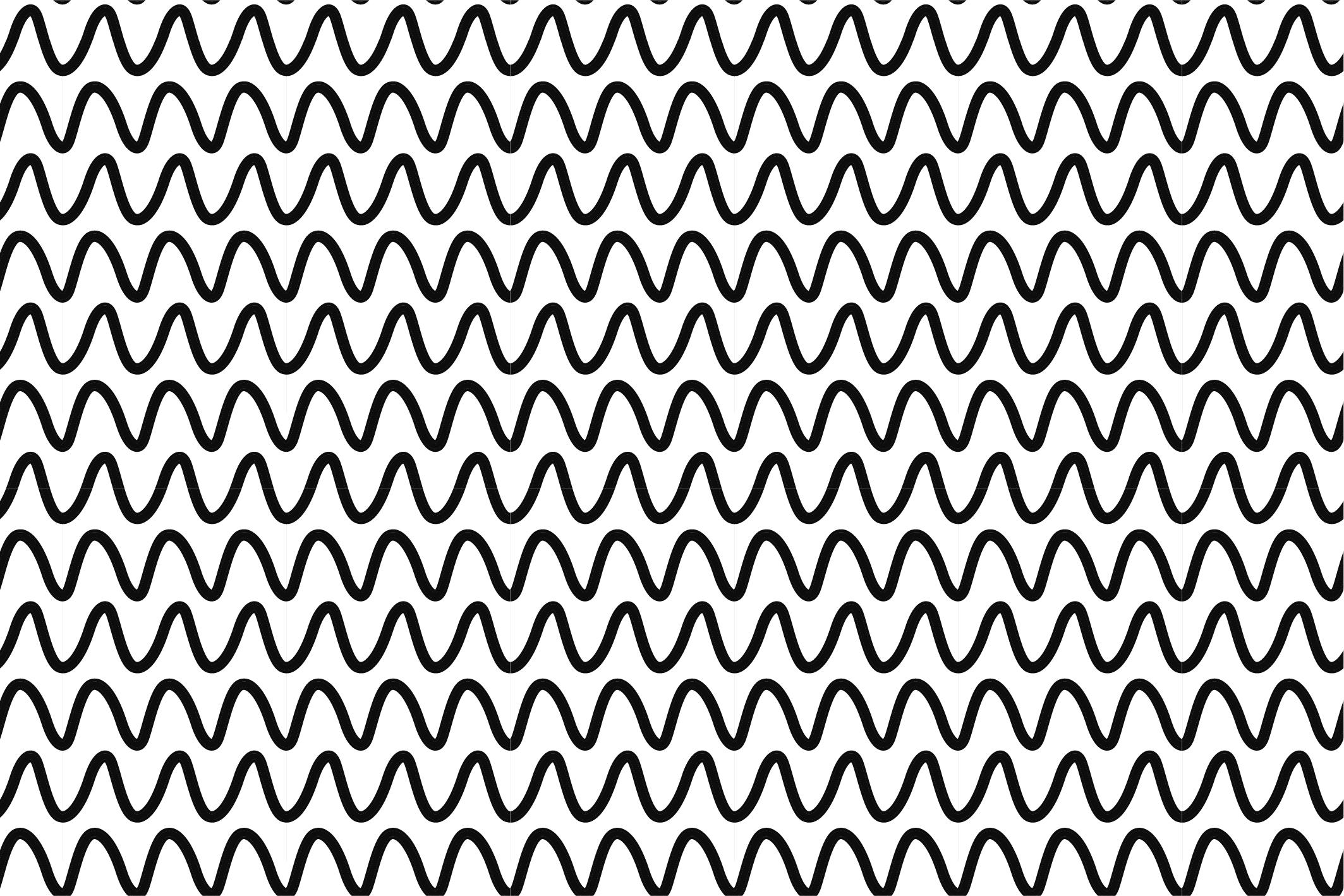 Wave&Zigzag seamless patterns. B&W. example image 3