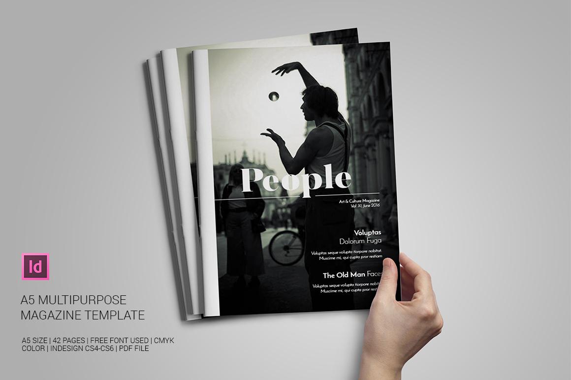 A5 Multipurpose Magazine Template example image 1