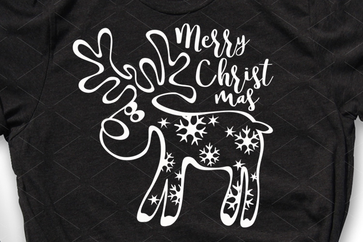 Christmas decor Reindeer Snowflakes Holiday shirt design example image 1