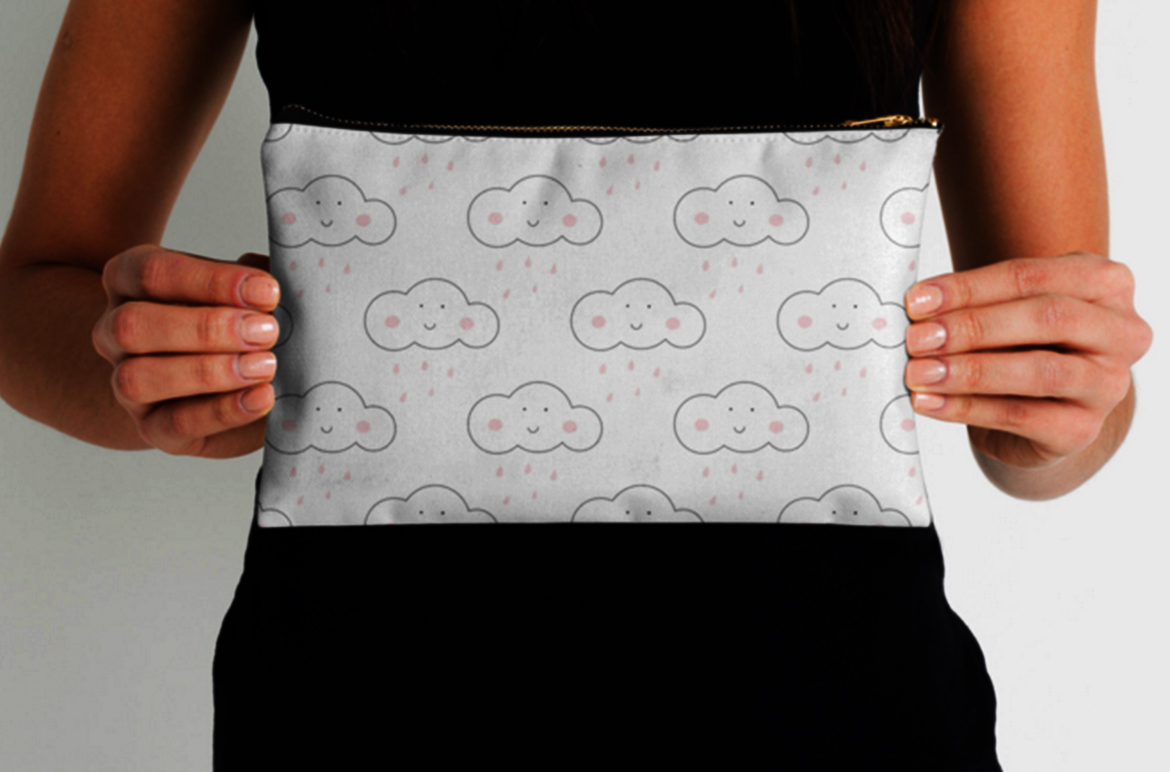 Clouds and Rain seamless patterns example image 3