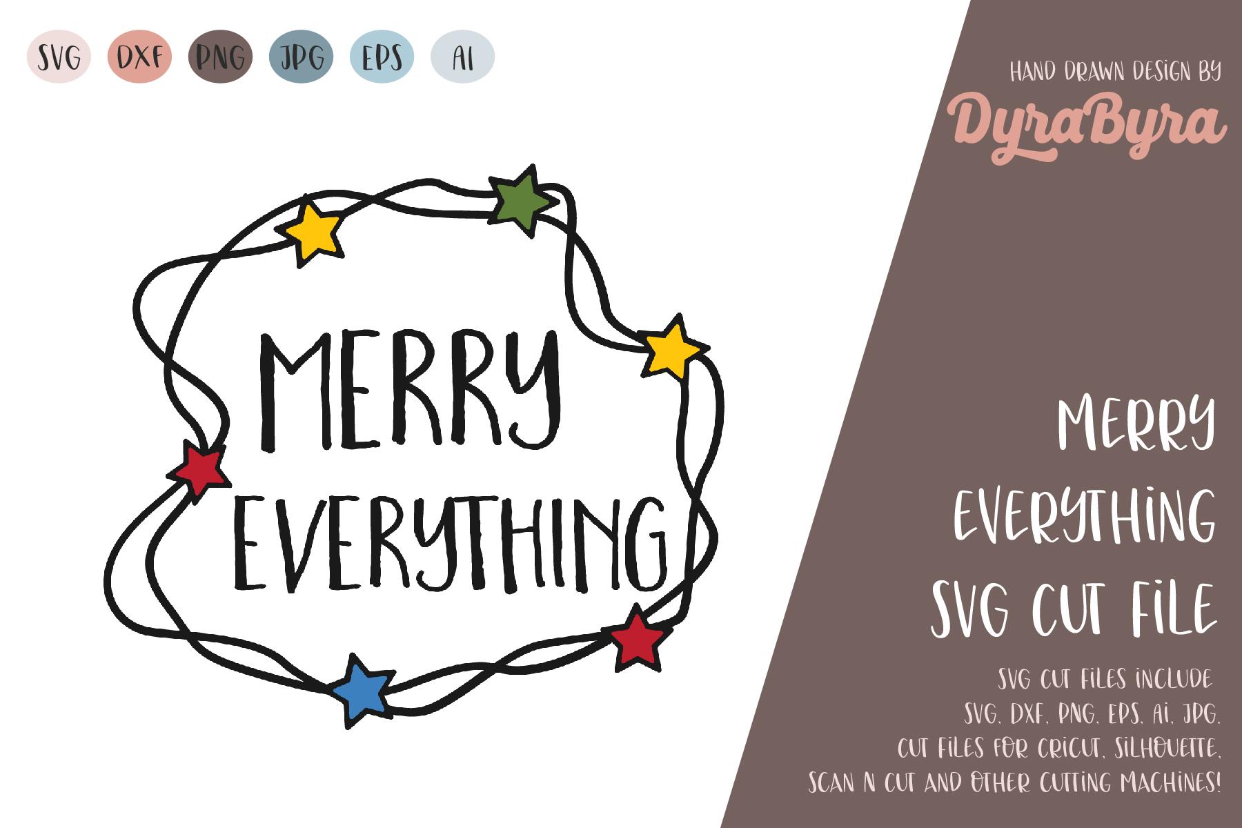 Merry Everything SVG / Christmas Lights SVG / Xmas example image 2