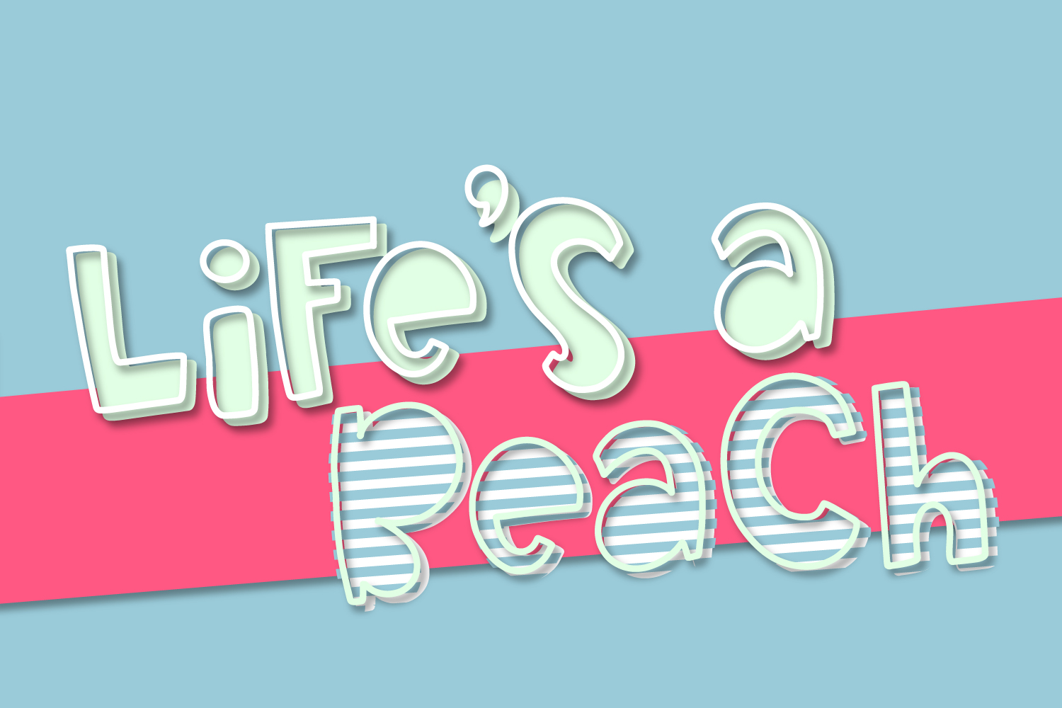 Pearapple - A Bouncy Font Trio With Outline and Stripes example image 2