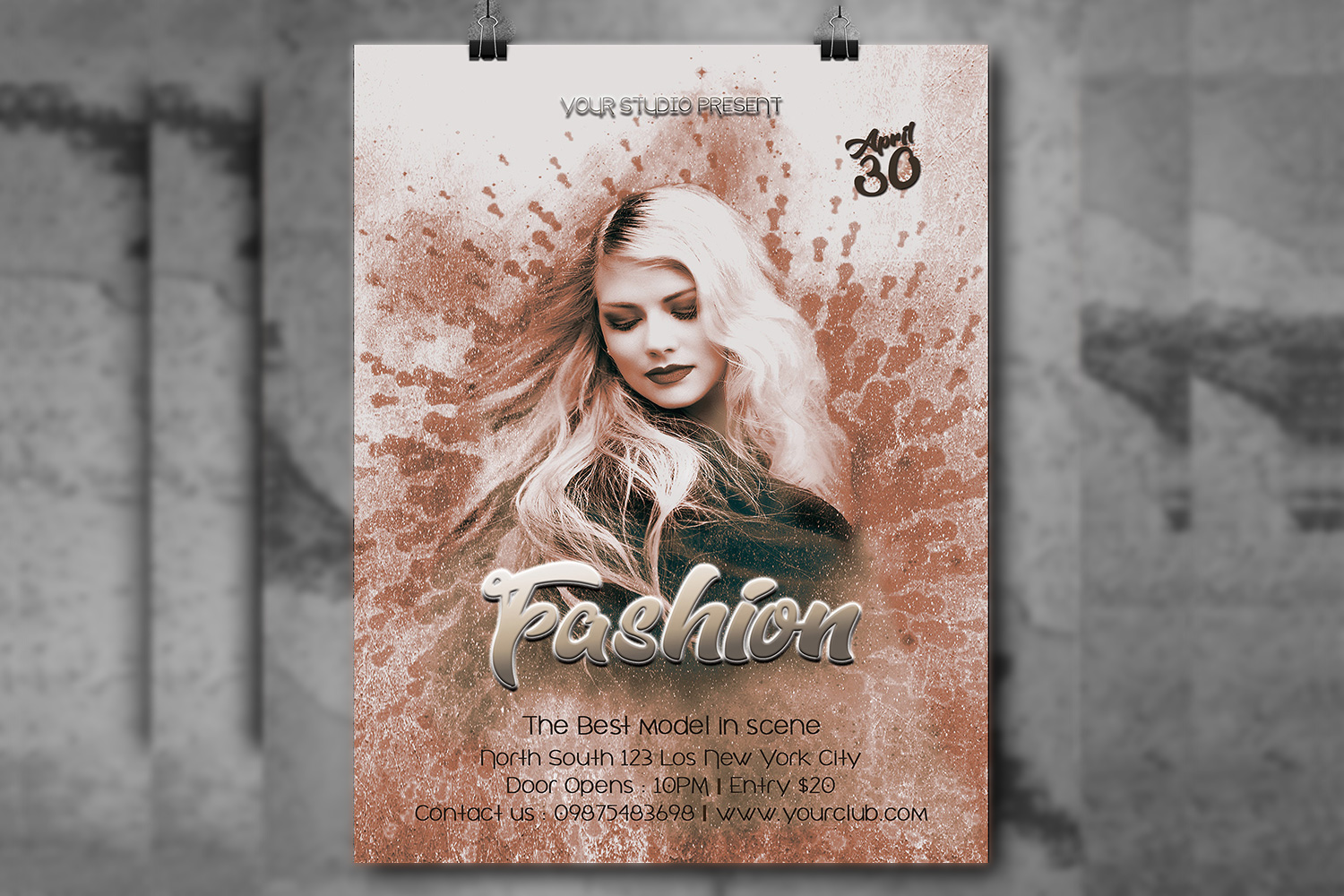 Fashion flyer template example image 2