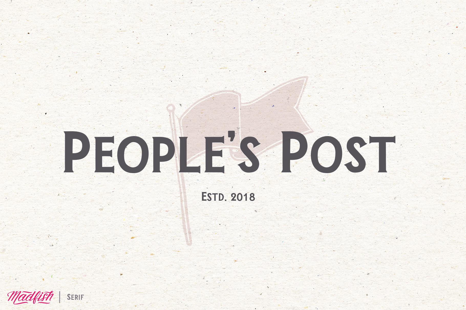 Madfish Font Family  Extras example image 8