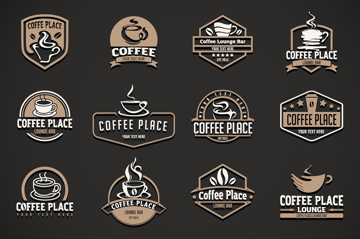 12 coffee logo templates example image 3
