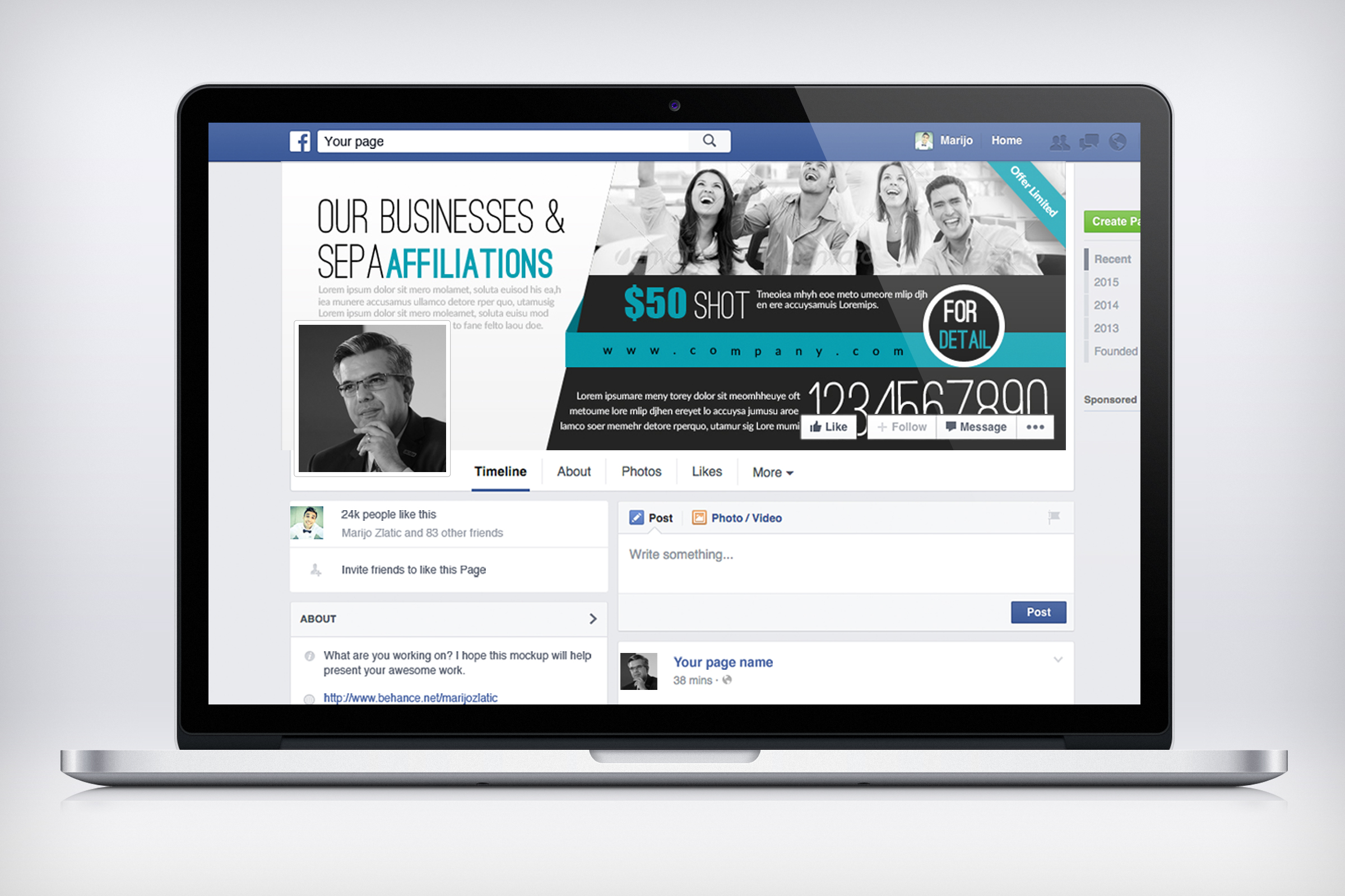 Corporate Facebook Timeline Cover example image 3