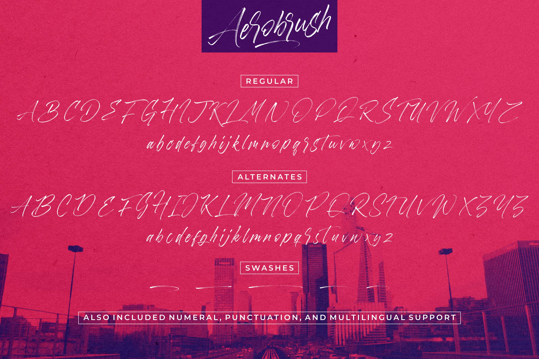 Aerobrush Font example image 13