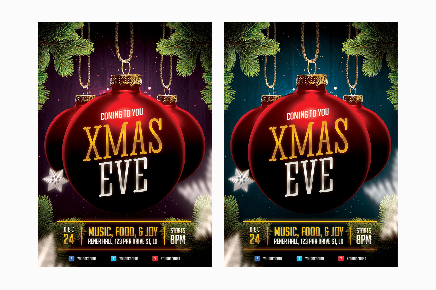 Christmas Event Flyer Template example image 4