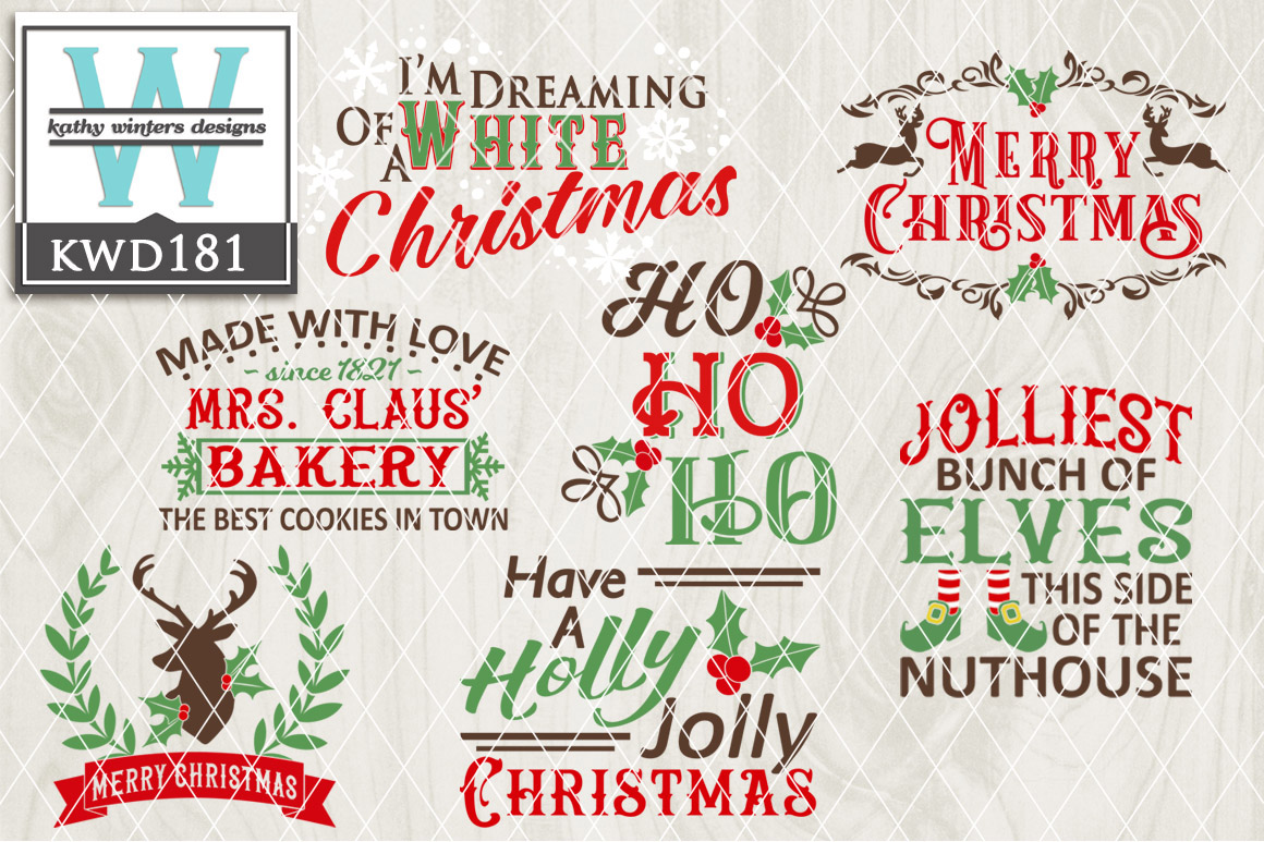 Christmas Cutting File KWD181 example image 1