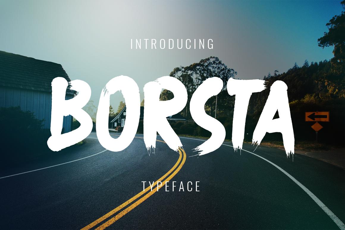Borsta Typeface example image 1