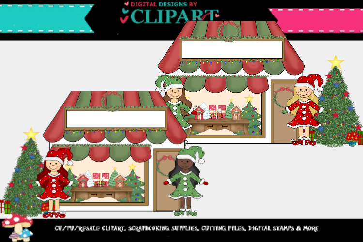 Christmas Cottages/ store fronts example image 2