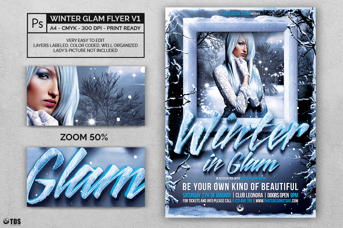 Winter Glam Flyer Template V1 example image 2