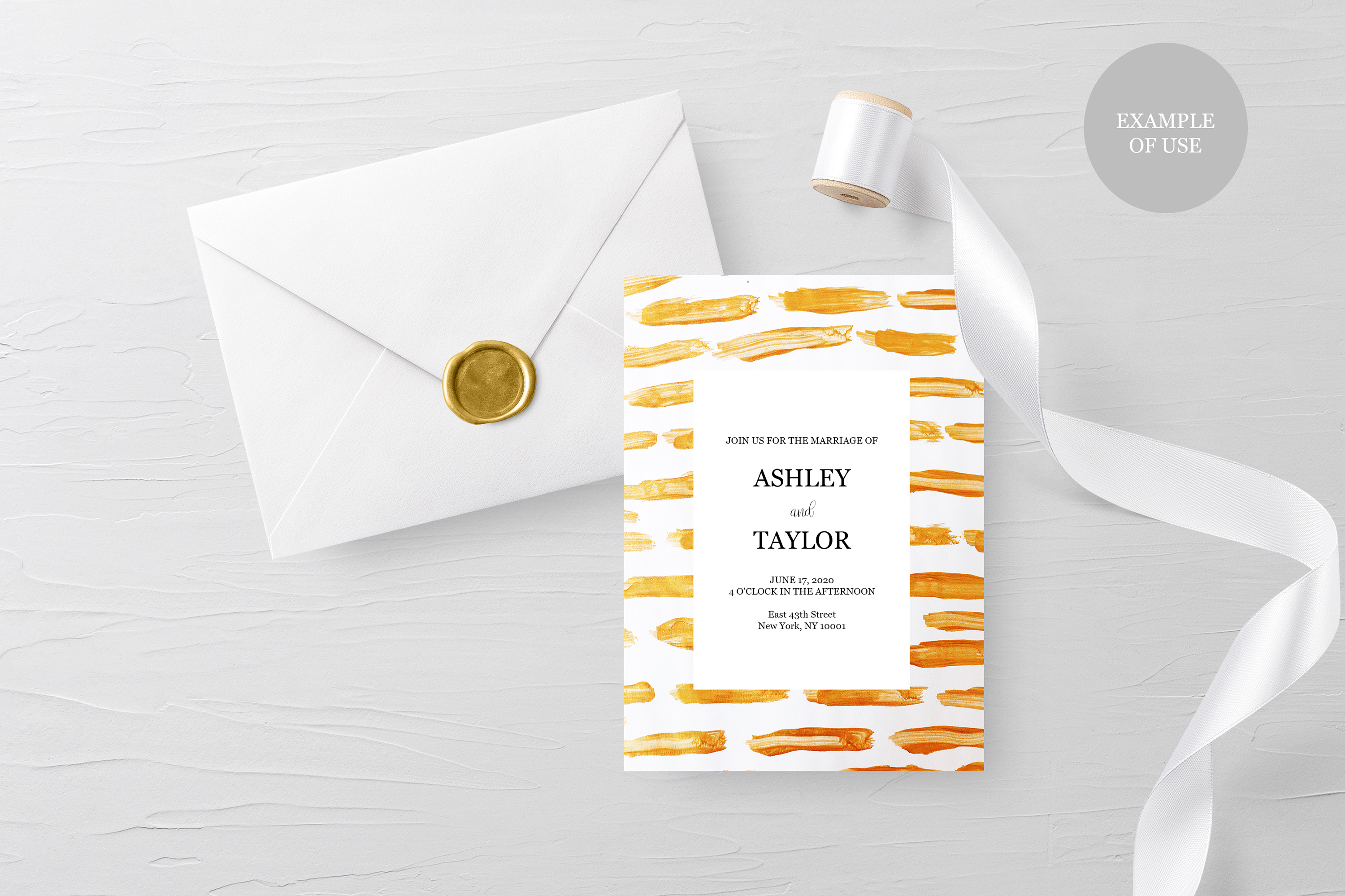 Gold & White Backgrounds, Wedding Invitation Papers example image 7