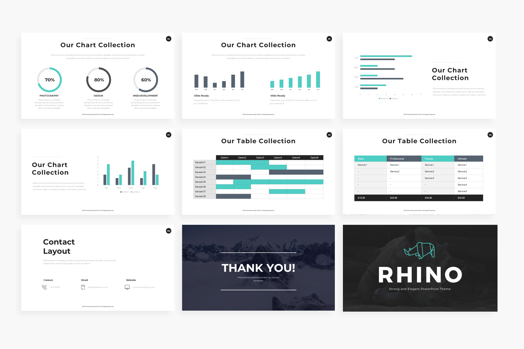 Rhino PowerPoint Template example image 12