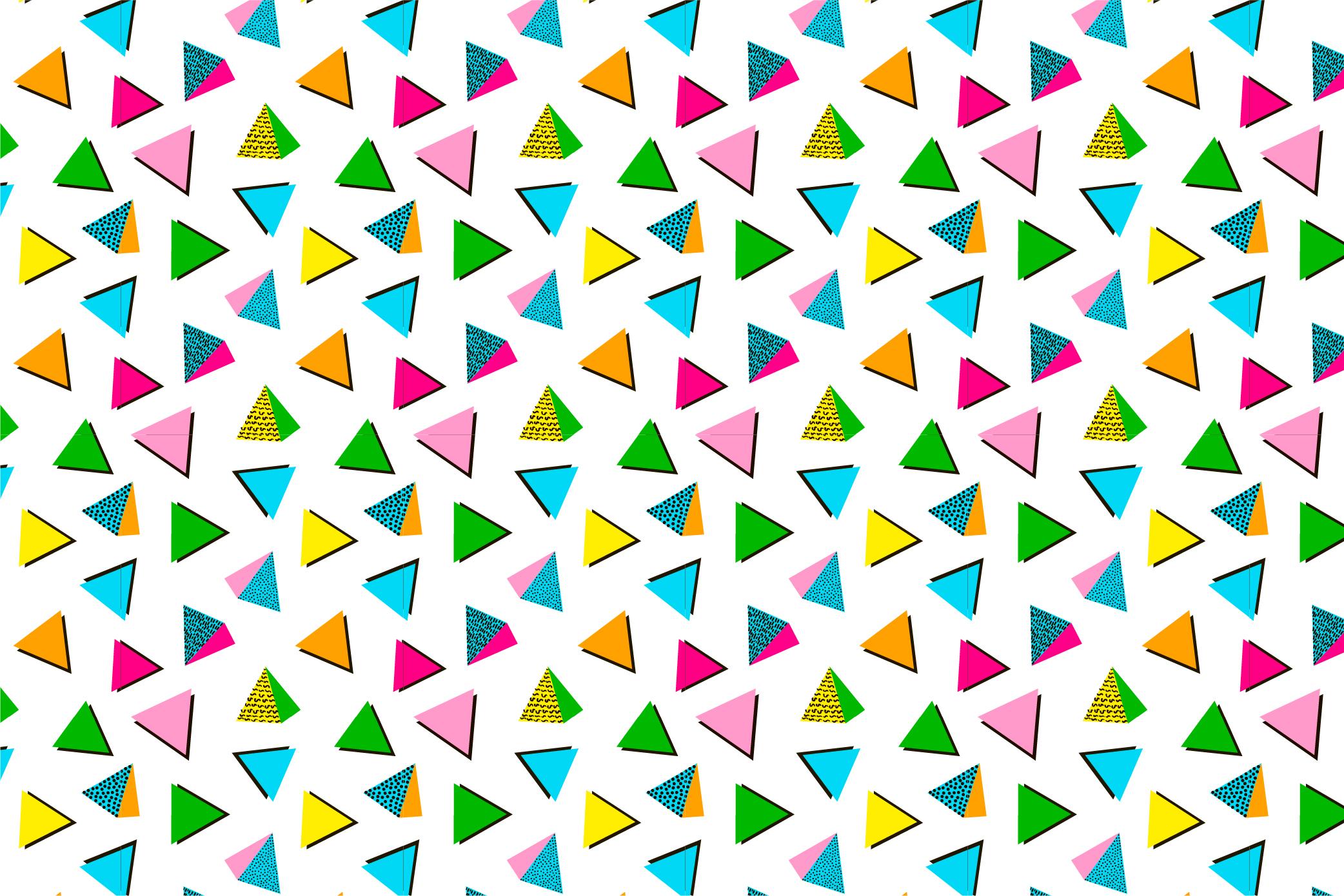 9 Geometric seamless patterns. Ai, EPS, JPG, SVG example image 8