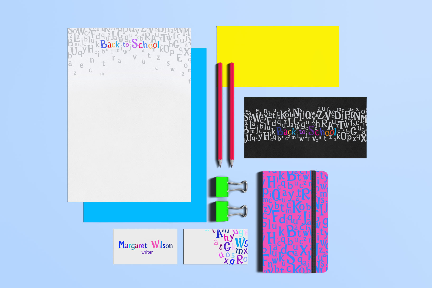 Rainbow Chalk fun kids font example image 10
