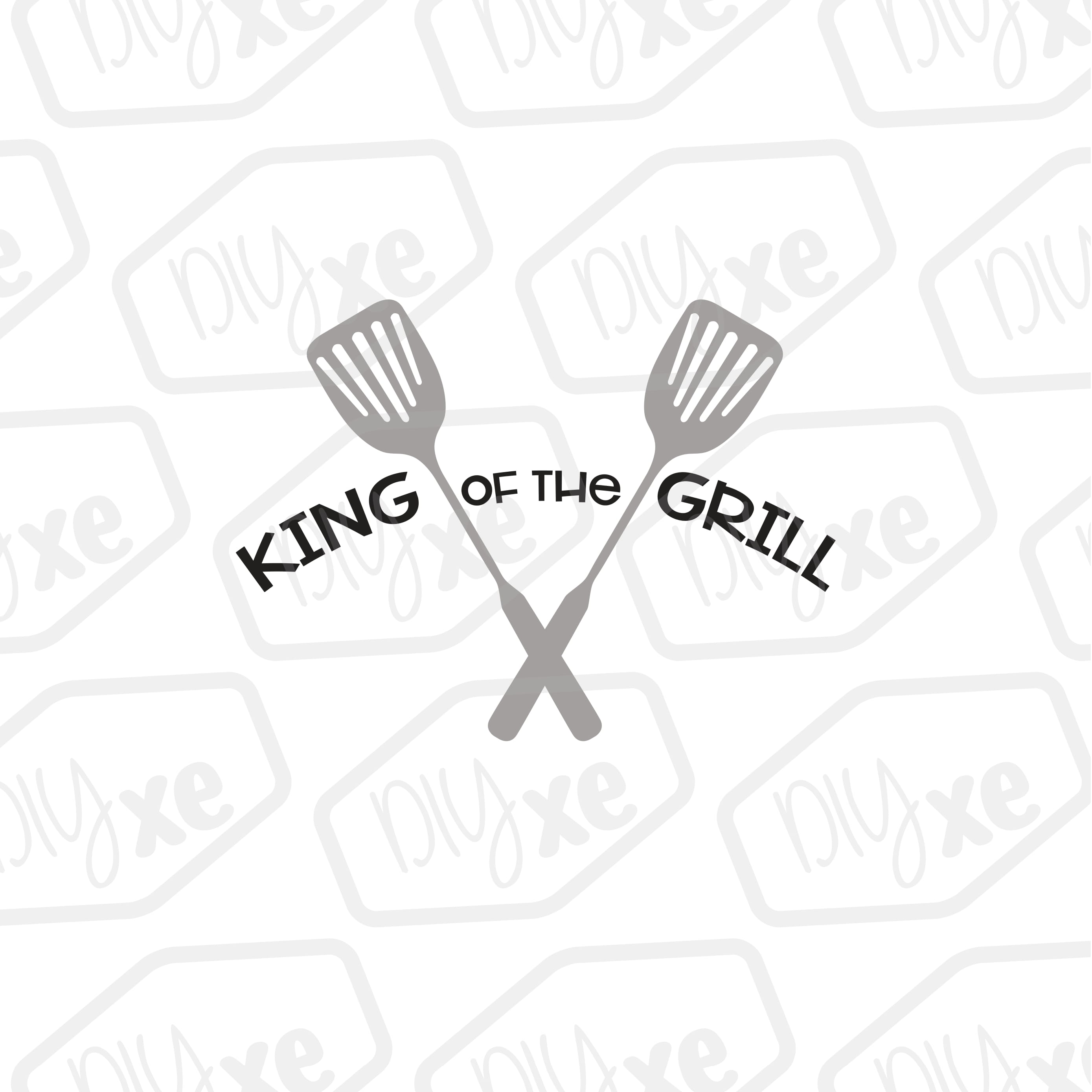 King Of The Grill - A Summer SVG Cut FIle example image 1