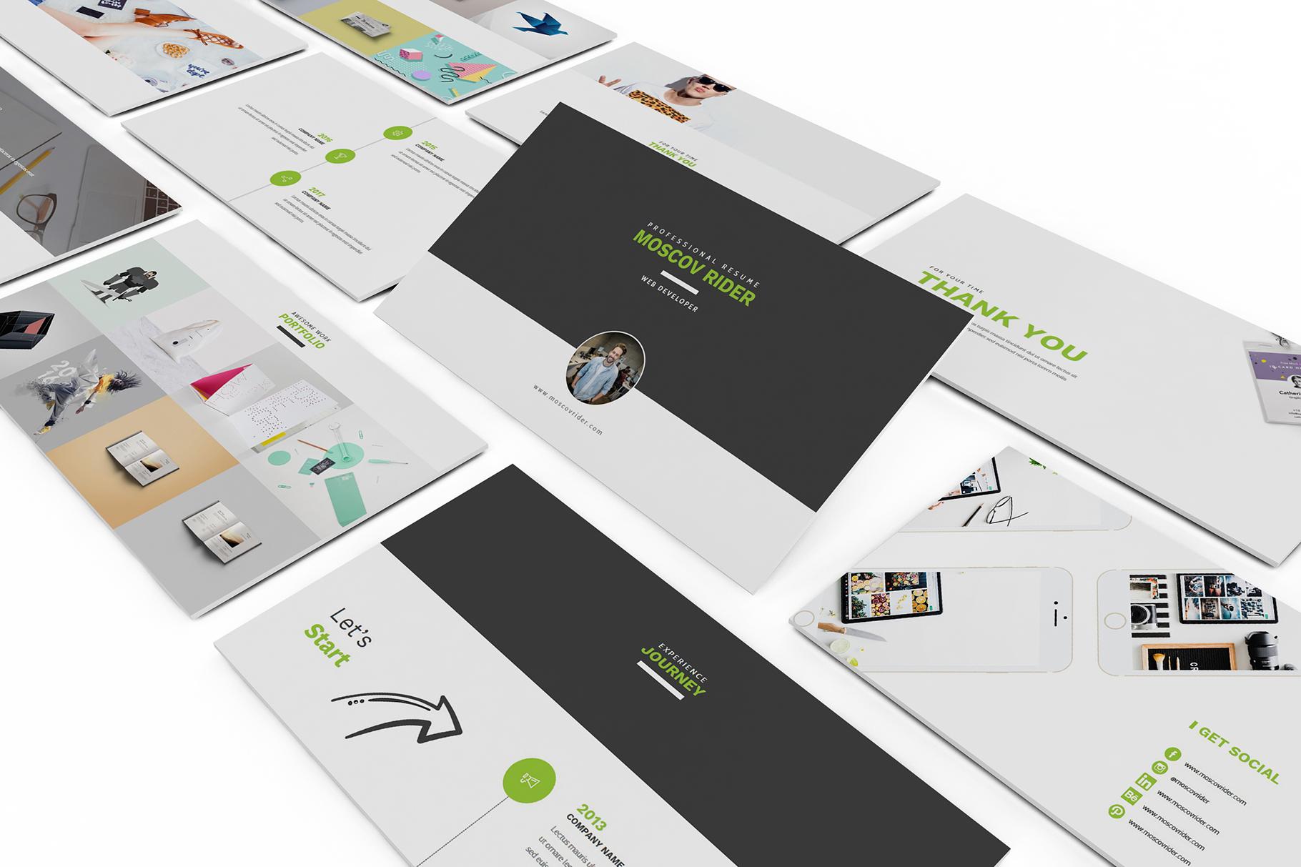 Resume CV Keynote Template example image 4