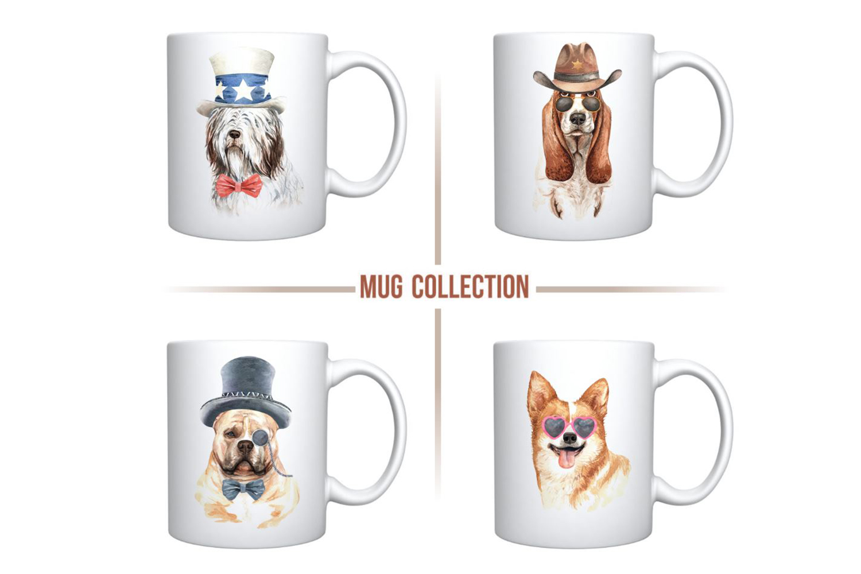 Dog watercolor. Pet clipart Set C example image 7