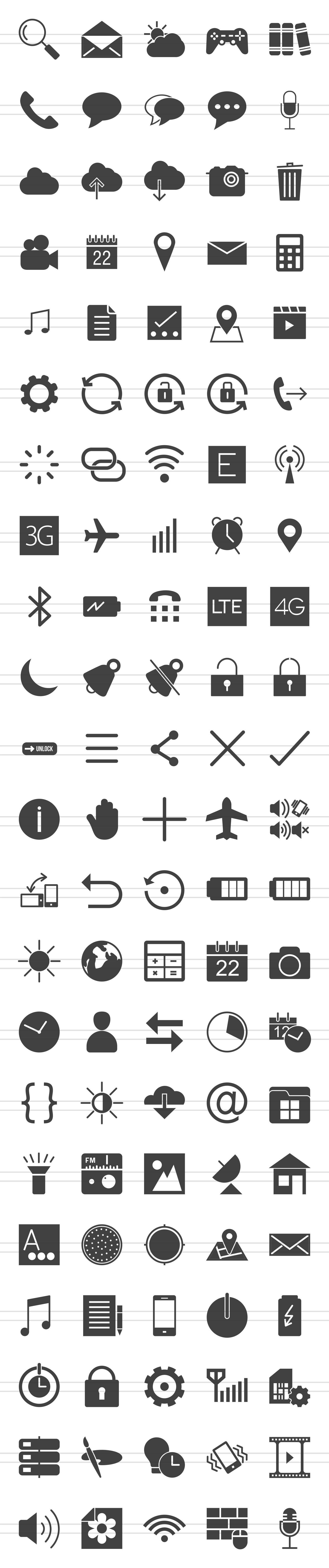 50 Smartphone Glyph Icons example image 2
