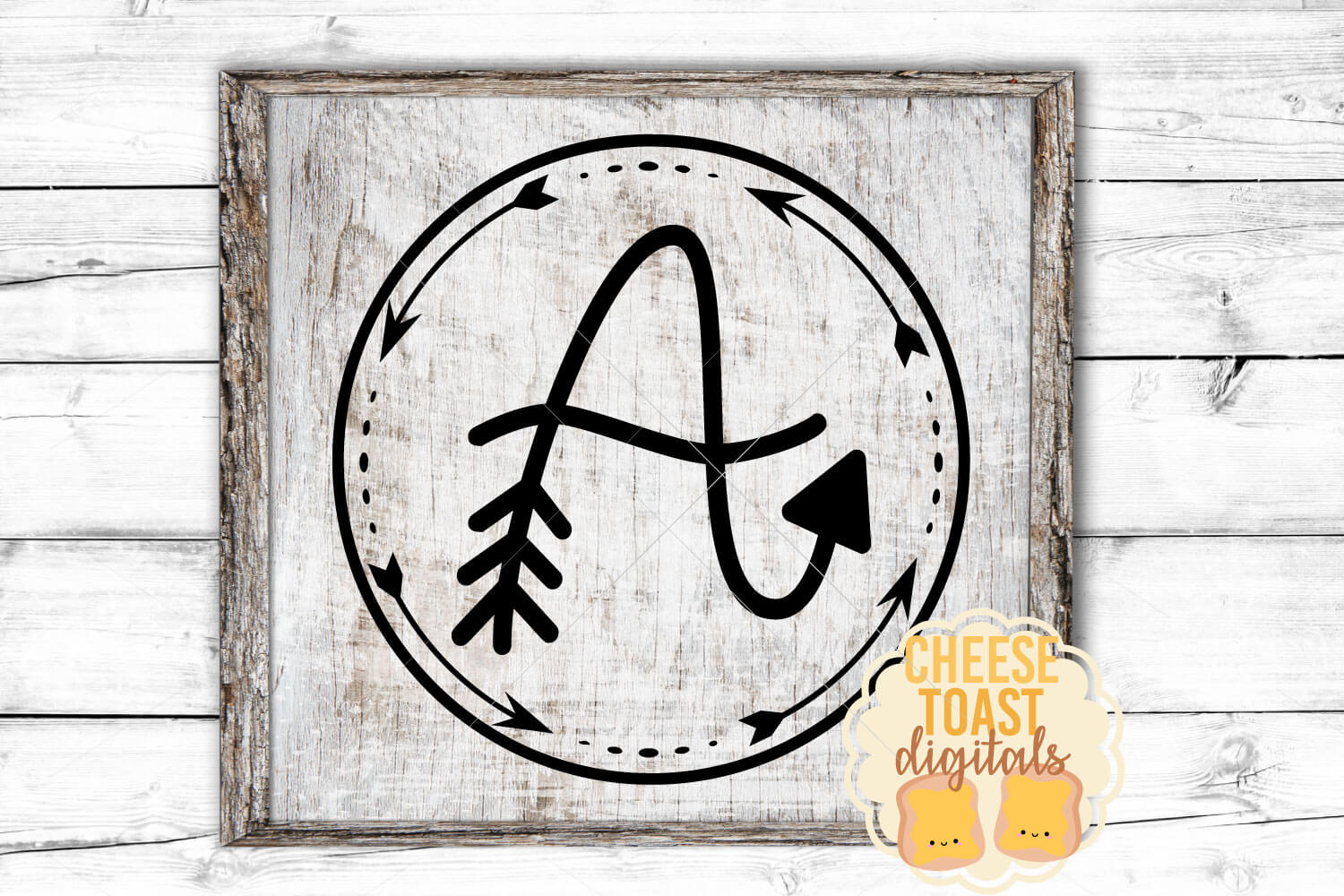 Arrow Monogram A Hand-Lettered Monogram Font example image 2