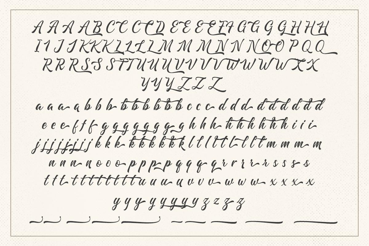Majestika - Clean Brush Script example image 9
