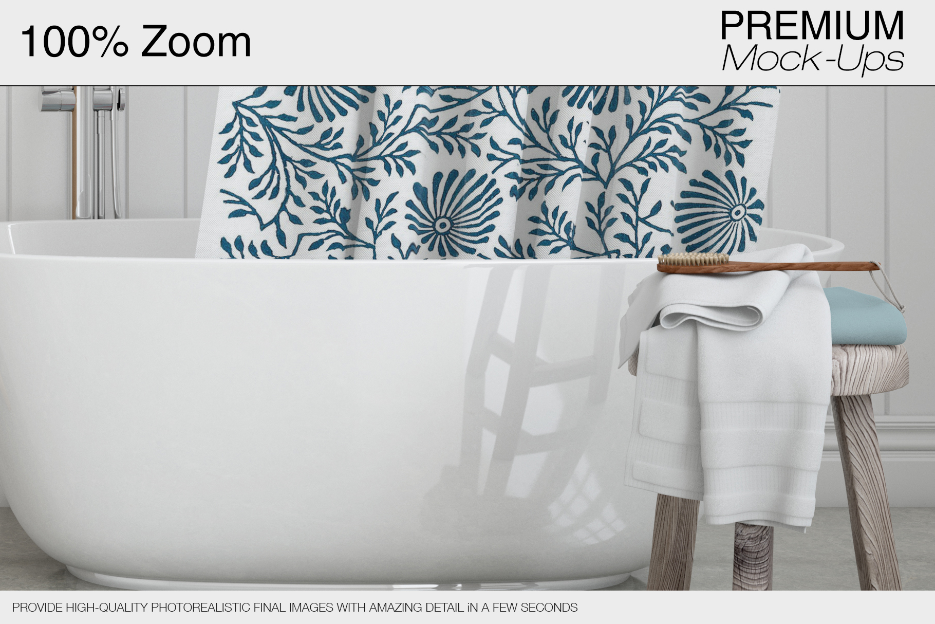 Bath Curtain Mockup Pack example image 15