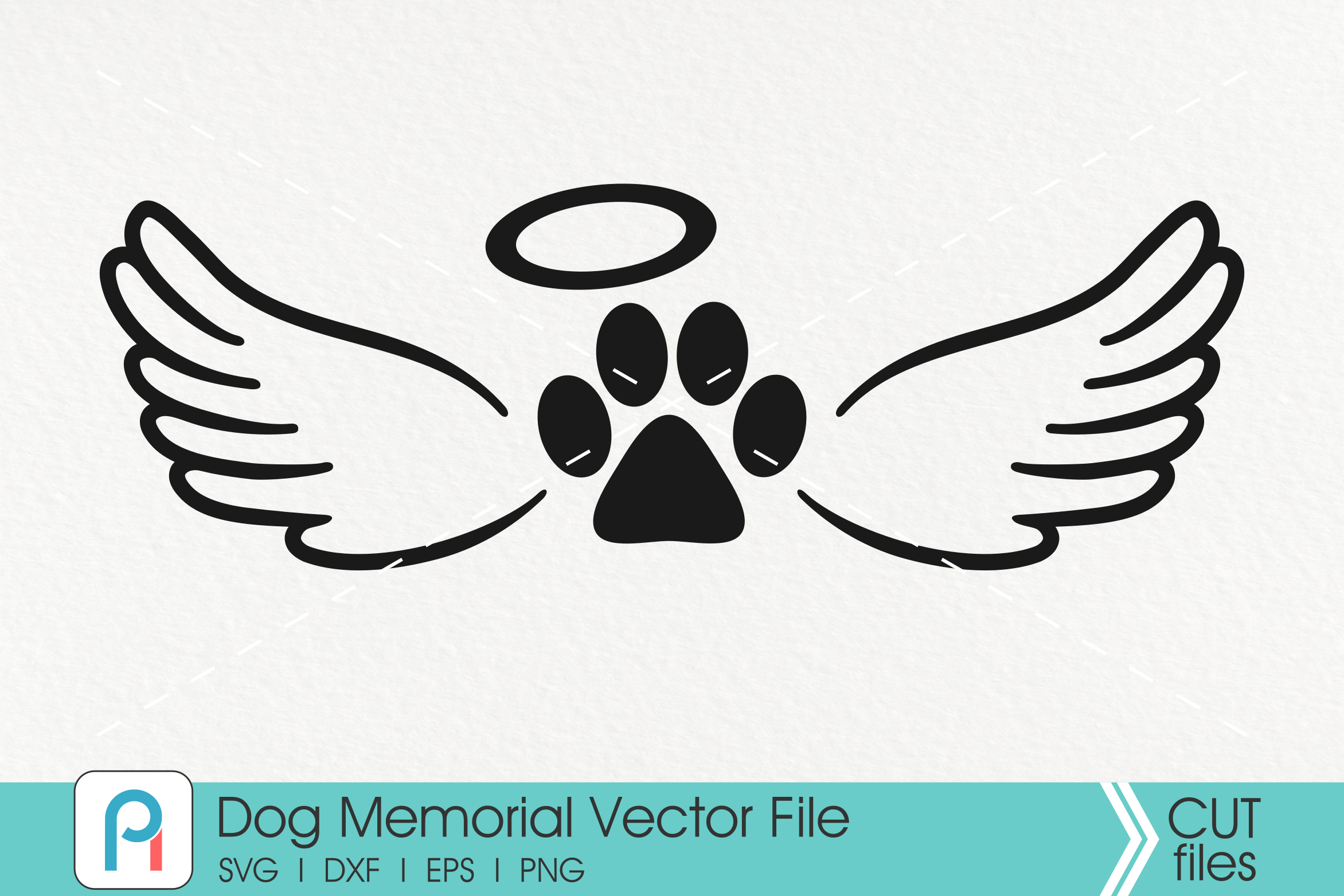 Dog Memorial Svg, Dog Remembrance Svg, Paw Svg, Dog Svg, Svg example image 1