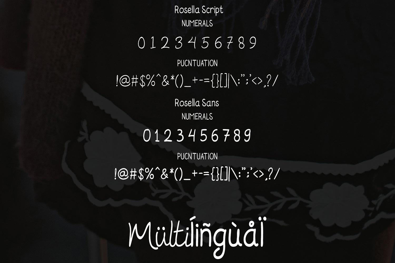 Rosella Script & Sans (Font Duo) example image 9