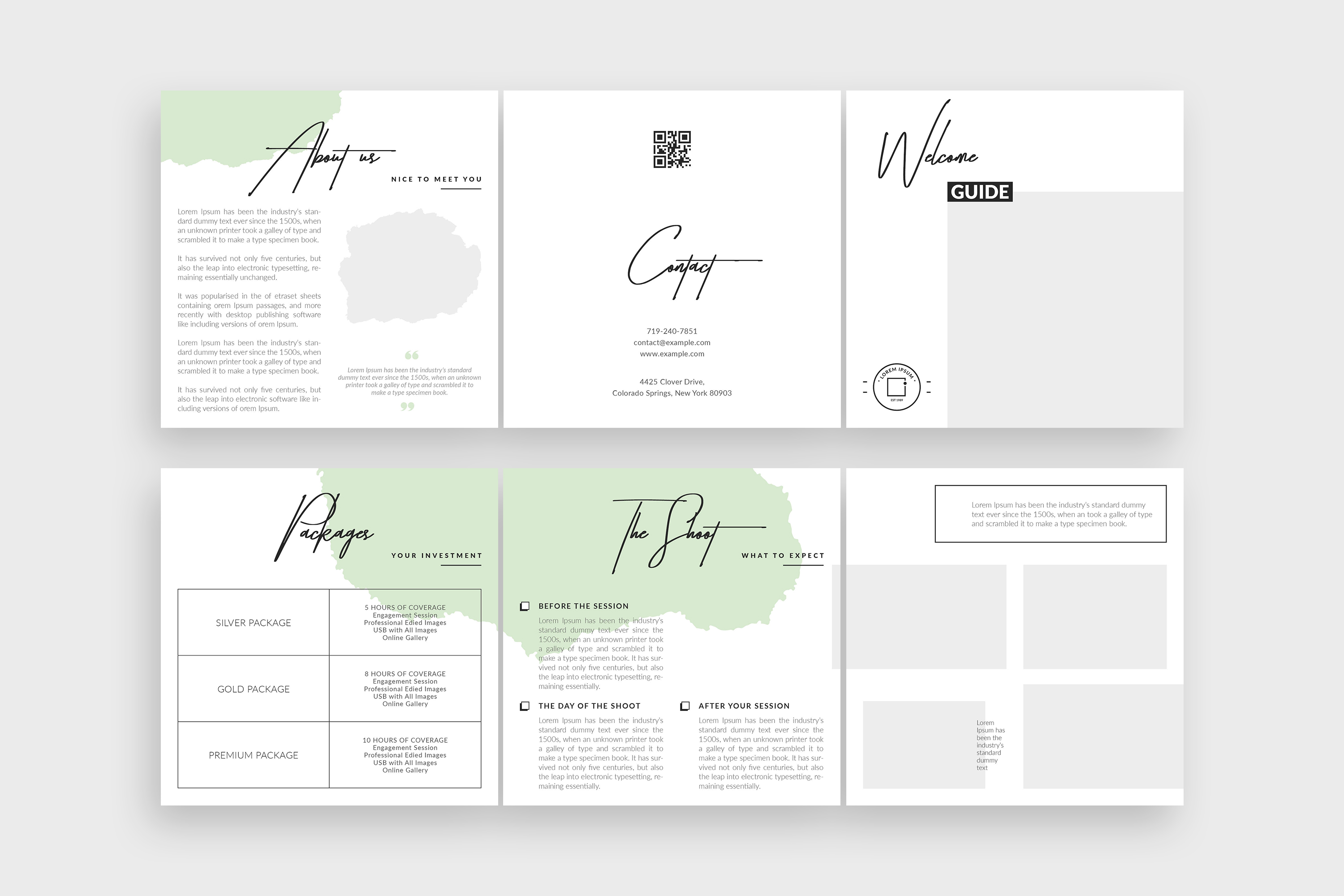 Photographer Square Tri-fold Brochure Template example image 9