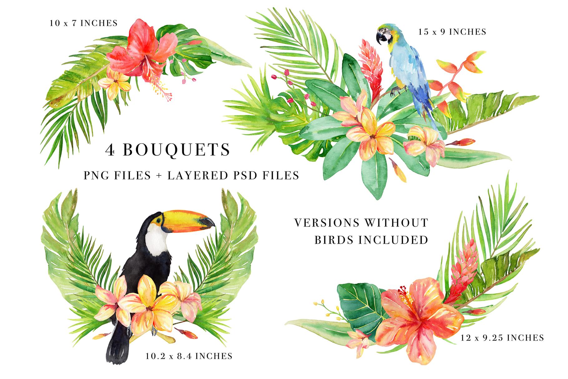 Floral Watercolor Bundle example image 4