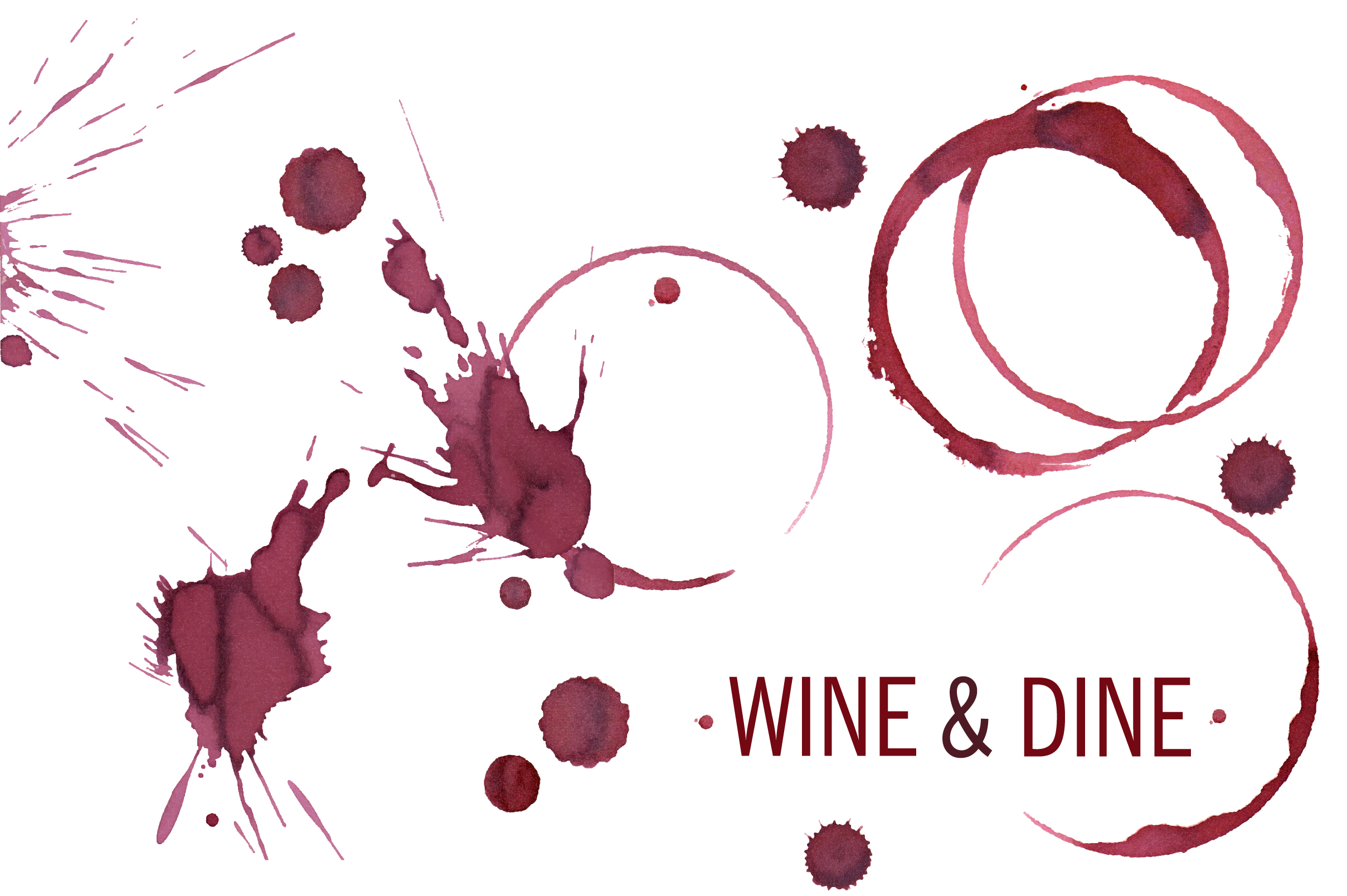 Wine and coffee stains example image 5