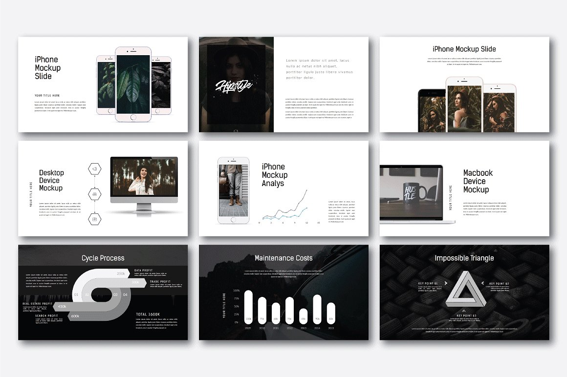 Hipstyle Multipurpose Powerpoint example image 8